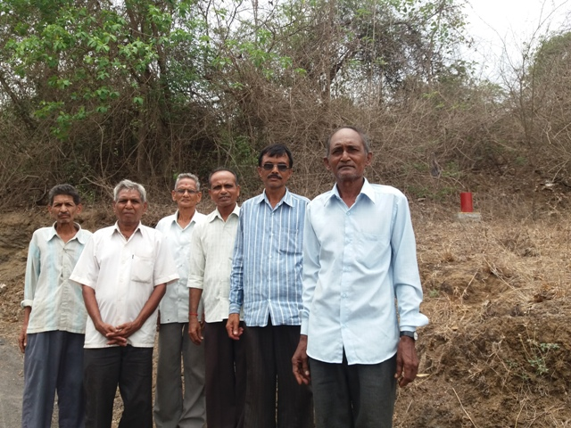 Ratilal Patel (right), his brothers and other farmers from Vaghaldhara village are likely to lose their lands to the bullet train project.
