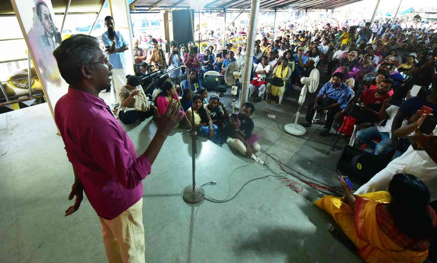 Sunny M Kapikkad's speeches against Sabarimala protests are attracting large audiences.
