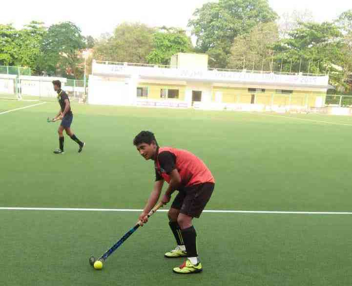 Sunil Bista on the hockey field. (Photo credit: Special arrangement).