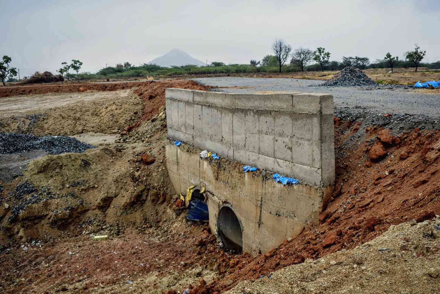 A check dam built with NREGA funds in Anantapur district. Photo: Aruna Chandrasekhar