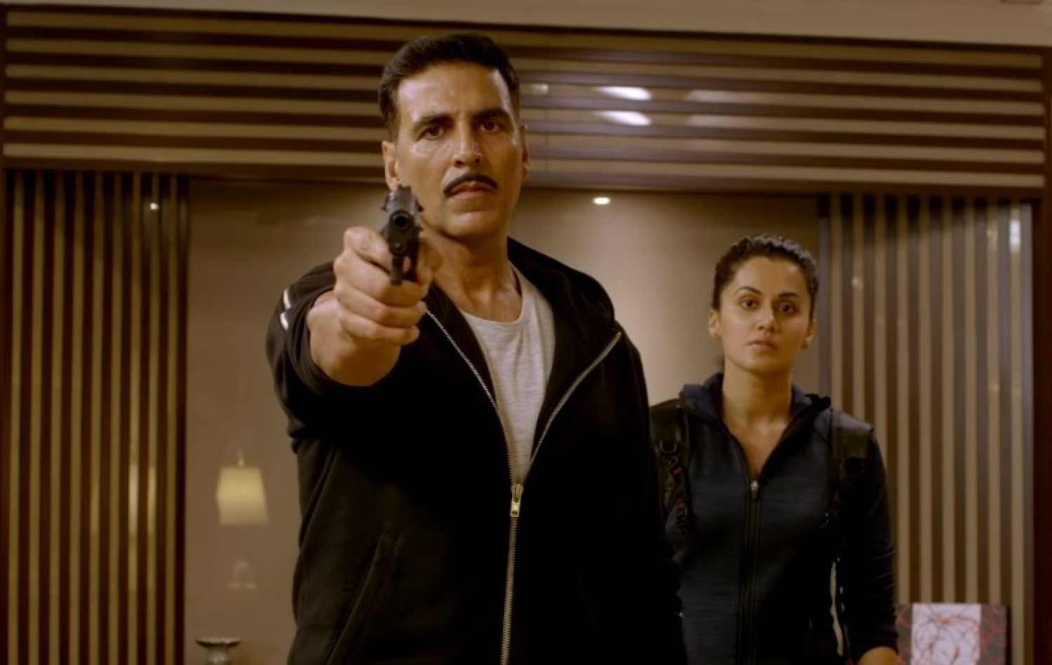 Akshay Kumar and Taapsee Pannu in Naam Shabana.