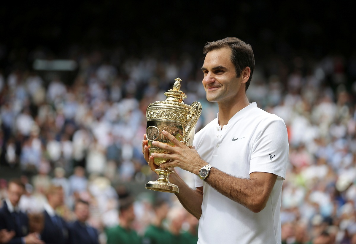 Roger Federer has won the Wimbledon title a record eight times (Image: Reuters)