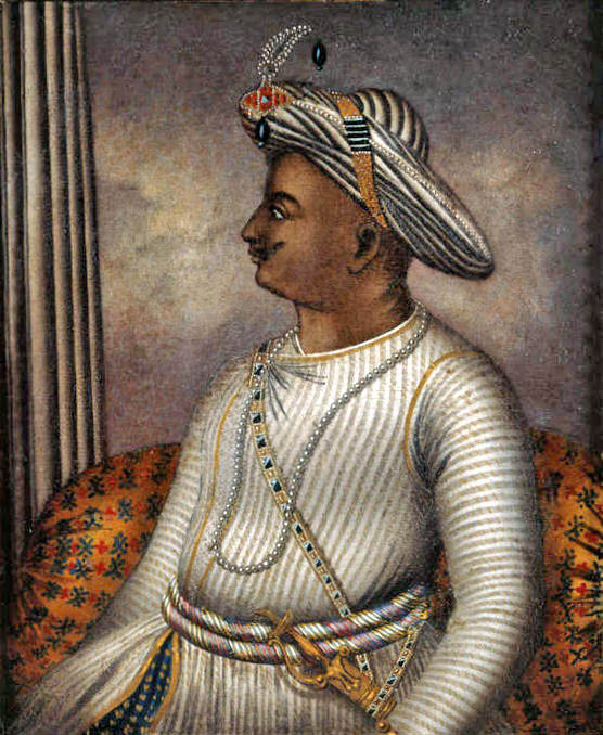 A portrait of Tipu Sultan in the care of the British Library. Image credit: Wikimedia Commons [Public Domain]