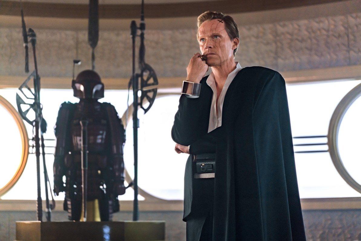 Paul Bettany as Dryden Vos in Solo: A Star Wars Story. Image credit: Lucasfilm.