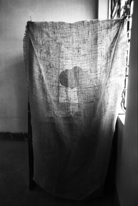 Shahidul Alam: Woman in voting booth, 1991