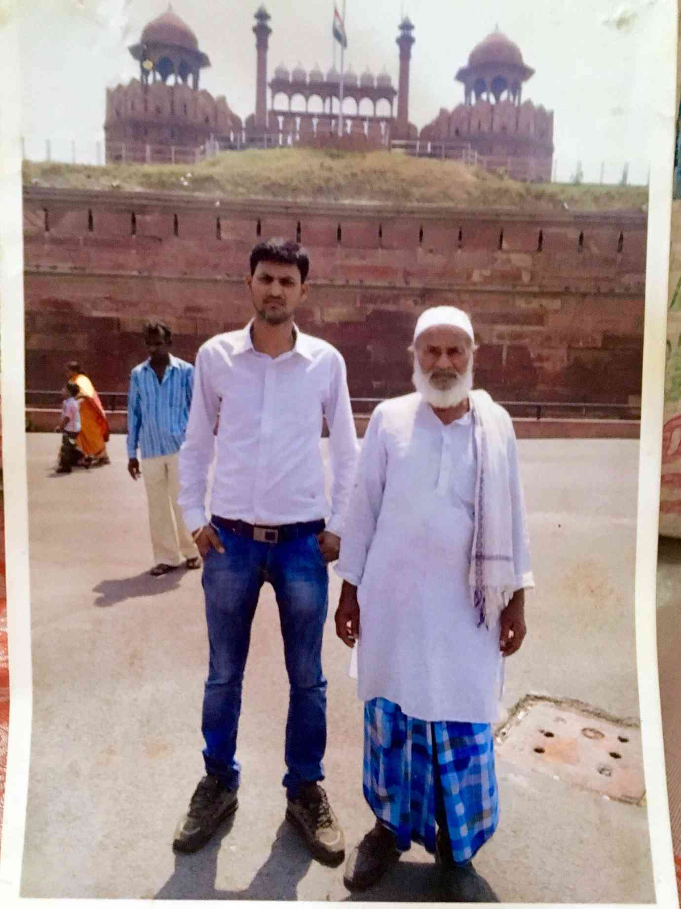 Zainul Ansari (right) was lynched in Sitamarhi when people in a Durga Puja procession targeted him simply because he was a visibly Muslim man.