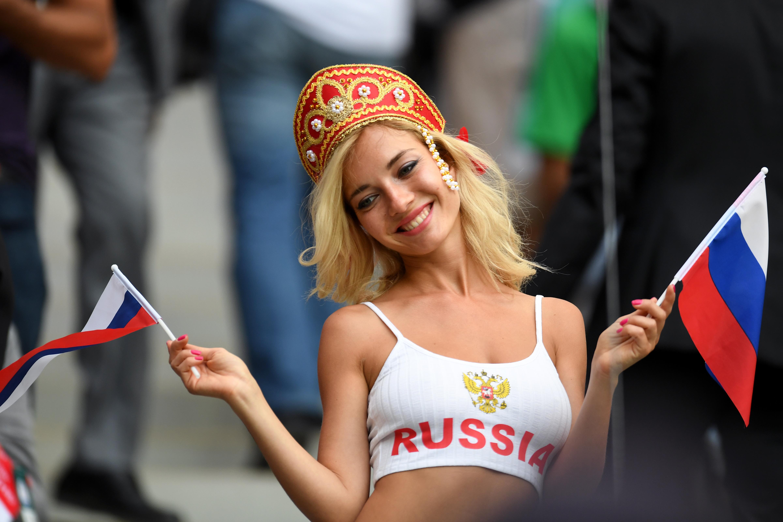 Russian fan at the Luzhniki Stadium | Image credit: AFP