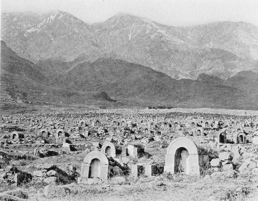"""The Dead of China"", featured in Camps and Trails in China (1918)."
