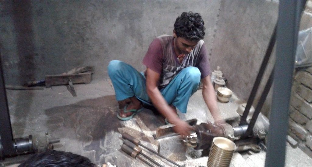 Parev's brass utensil manufacturing units provide livelihood to hundreds of villagers. Photo Credit: Mohd Imran Khan