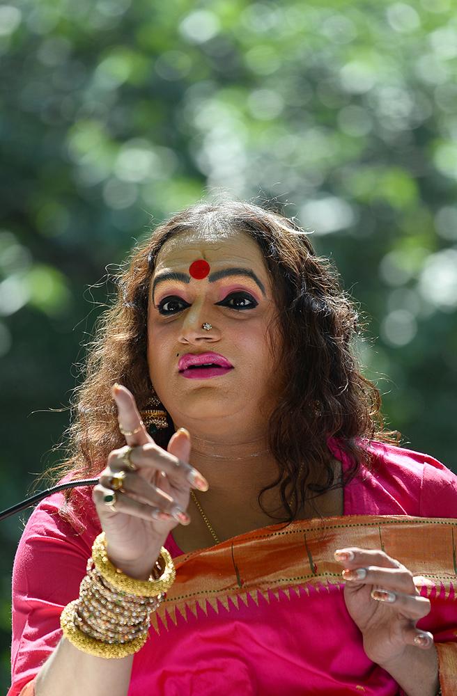 Laxmi Narayan Tripathi, a celebrated transgender rights activist. Credit: Sajjad Hussain/AFP