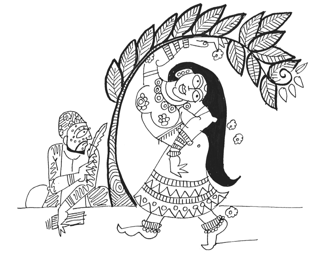 Padmavati. Illustration by Devdutt Pattnaik.