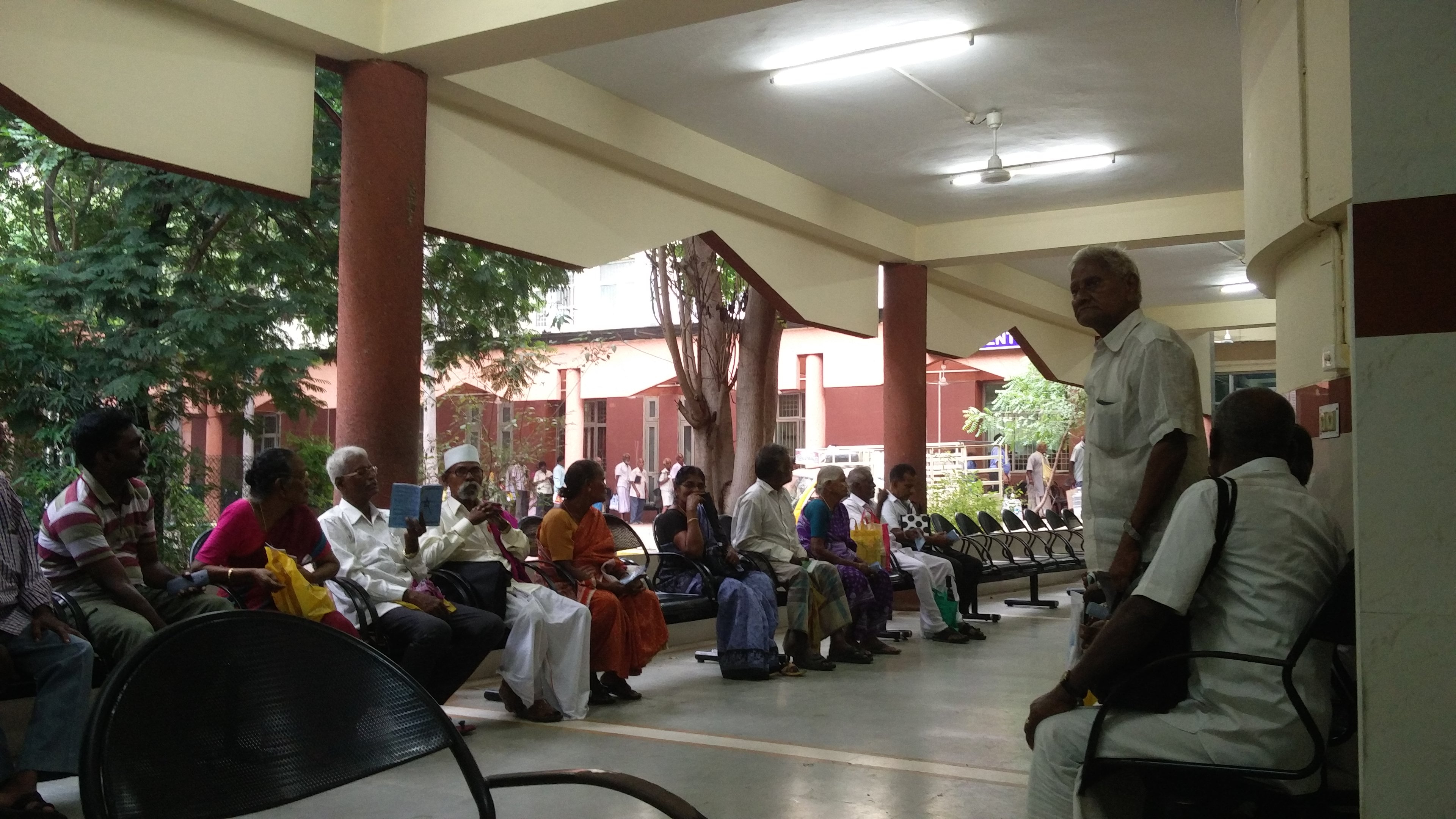Patients and visitors at the National Institute of Siddha. (Photo: Vinita Govindarajan)