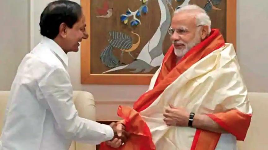 K Chandrashekhar Rao has met Prime Minister Narendra Modi three times in a month. (Credit: PTI)
