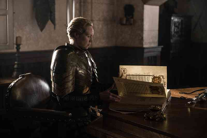 Brienne (Gwedoline Christie) in the Game of Thrones series finale. Courtesy HBO.