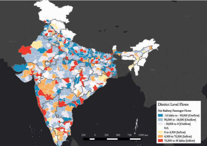 North Bengal districts such as Malda have some of the highest migration outflows in India. Source: Economic Survey 2016-'17, Ministry of Finance, Government of India.