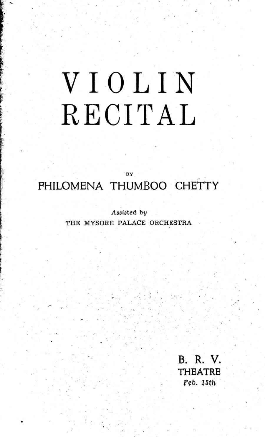 Philomena Thumboochetty: The Indian violinist who drew