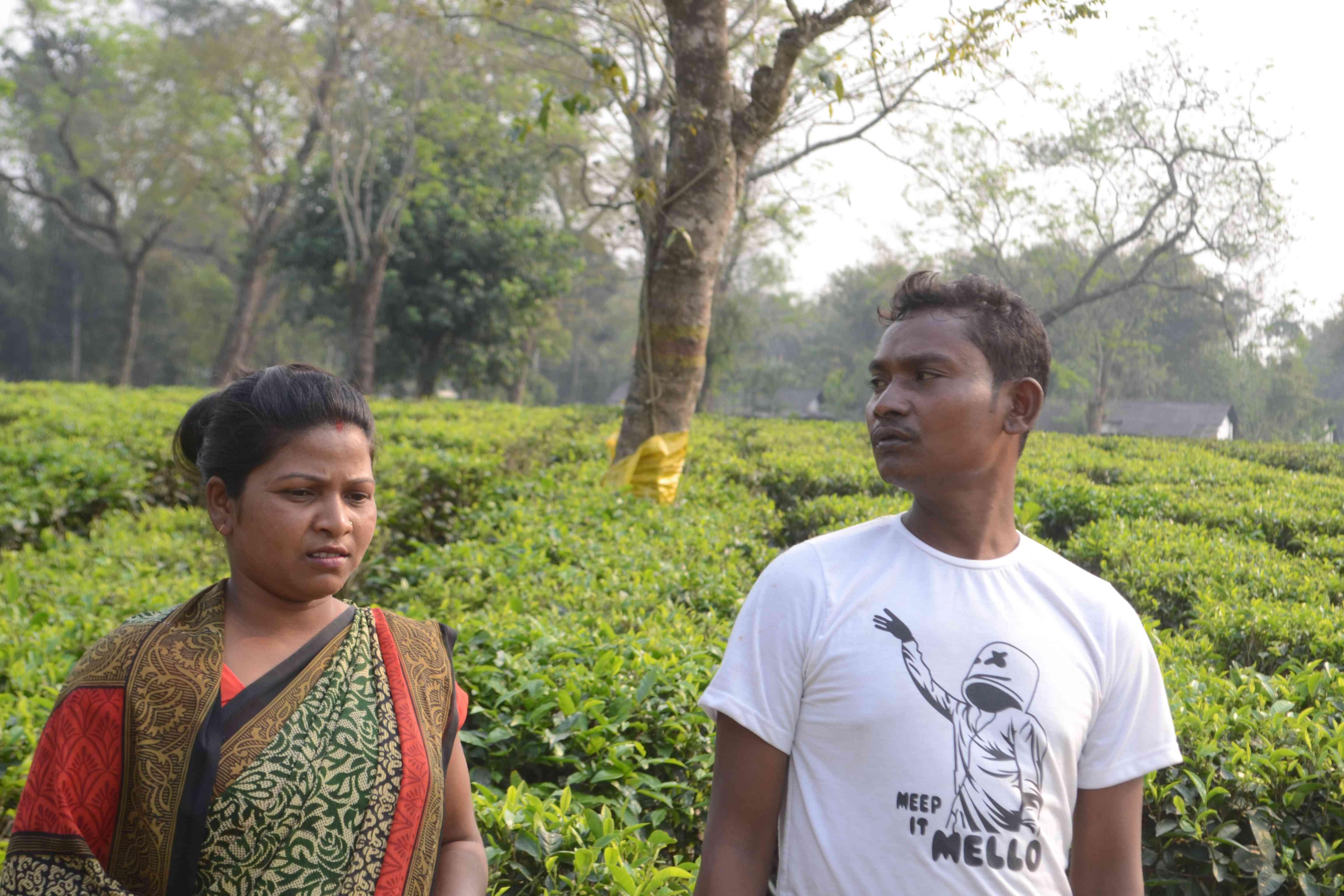 Deepanita Manki and Binod Munda in Tinsukhia. Photo credit: Anupam Chakravartty