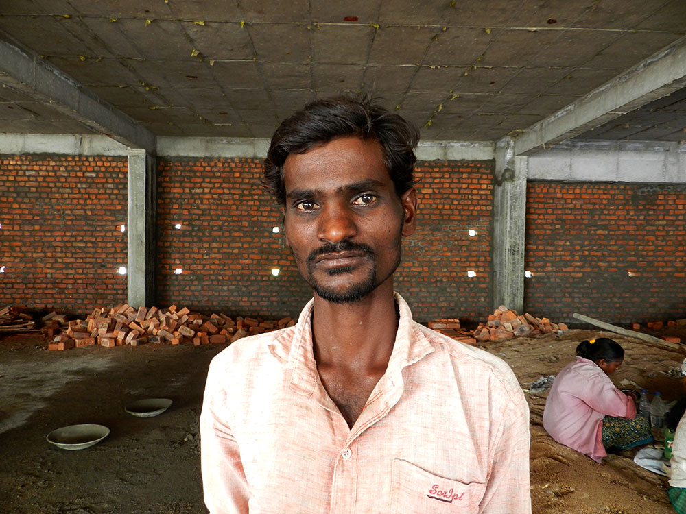 Eapally Govind, a construction worker. Photo: Mridula Chari