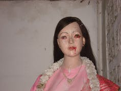 A department-store mannequin used as the votive image for Jao Mae Nang Non, the guardian spirit of Nang Non Cave. Photo credit: Andrew A. Johnson