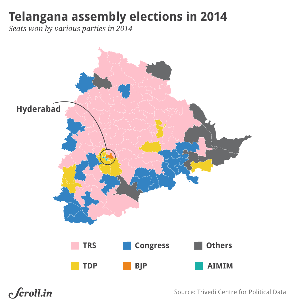 Telangana: KCR's TRS appears to have edge over Congress