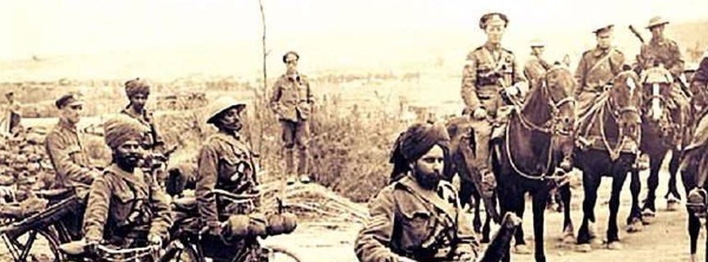 Indian soldiers in Europe during World War I.