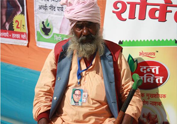 A Ravidassia at the mela near Varanasi. Photo credit: Santosh K Singh