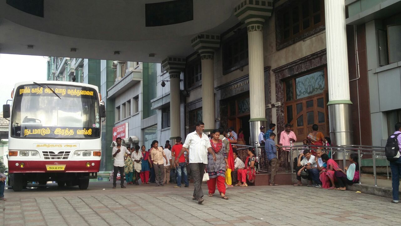Patients are being transferred to the Government General Hospital Chennai. Credit: Vinita Govindarajan