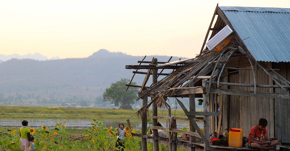 Household solar system by Inle lake, Myanmar's Shan state. ( Photo credit: Beth Walker)
