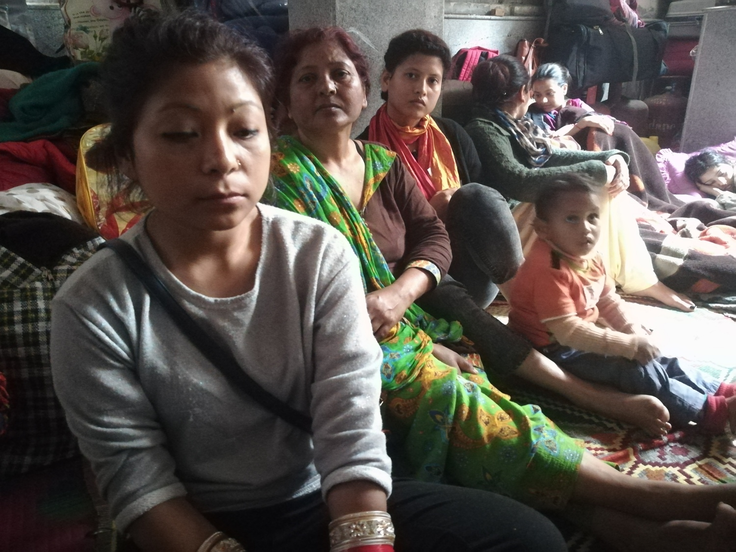 Dalri Sangma, a Garo woman, married a Punjabi man from Shillong's Punjabi Line colony two months ago, and is expecting their first child. She has taken refuge in the gurdwara, along with her in-laws.