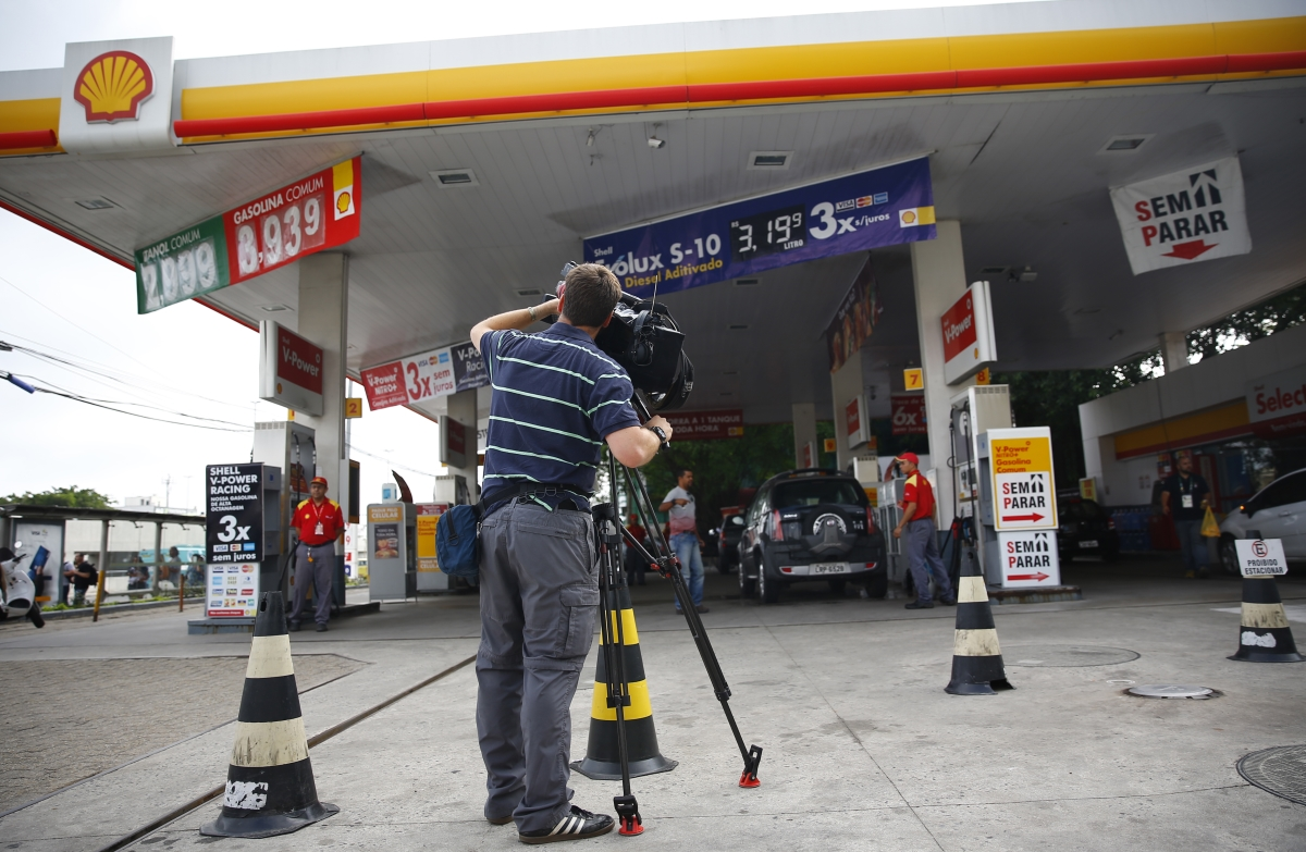 The gas station where the entire incident took place. (Image credit: Reuters)