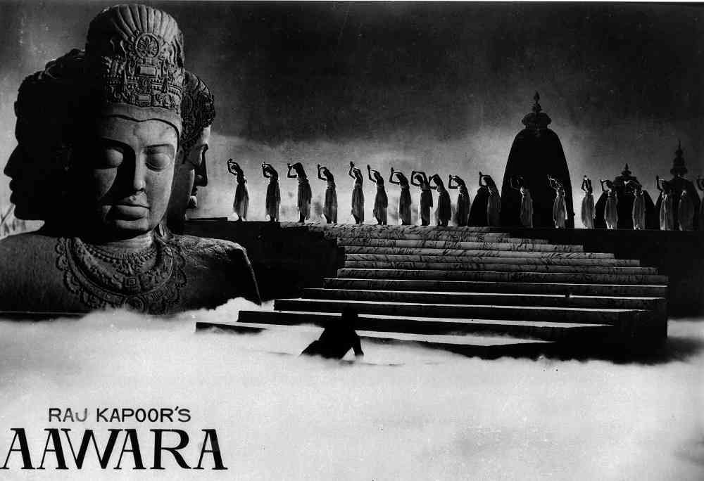 The dream sequence in Raj Kapoor's Awaara (1951), choreographed by Madame Simkie. Courtesy RandhirKapoor/RK Films/ Hyphen Films Collection.