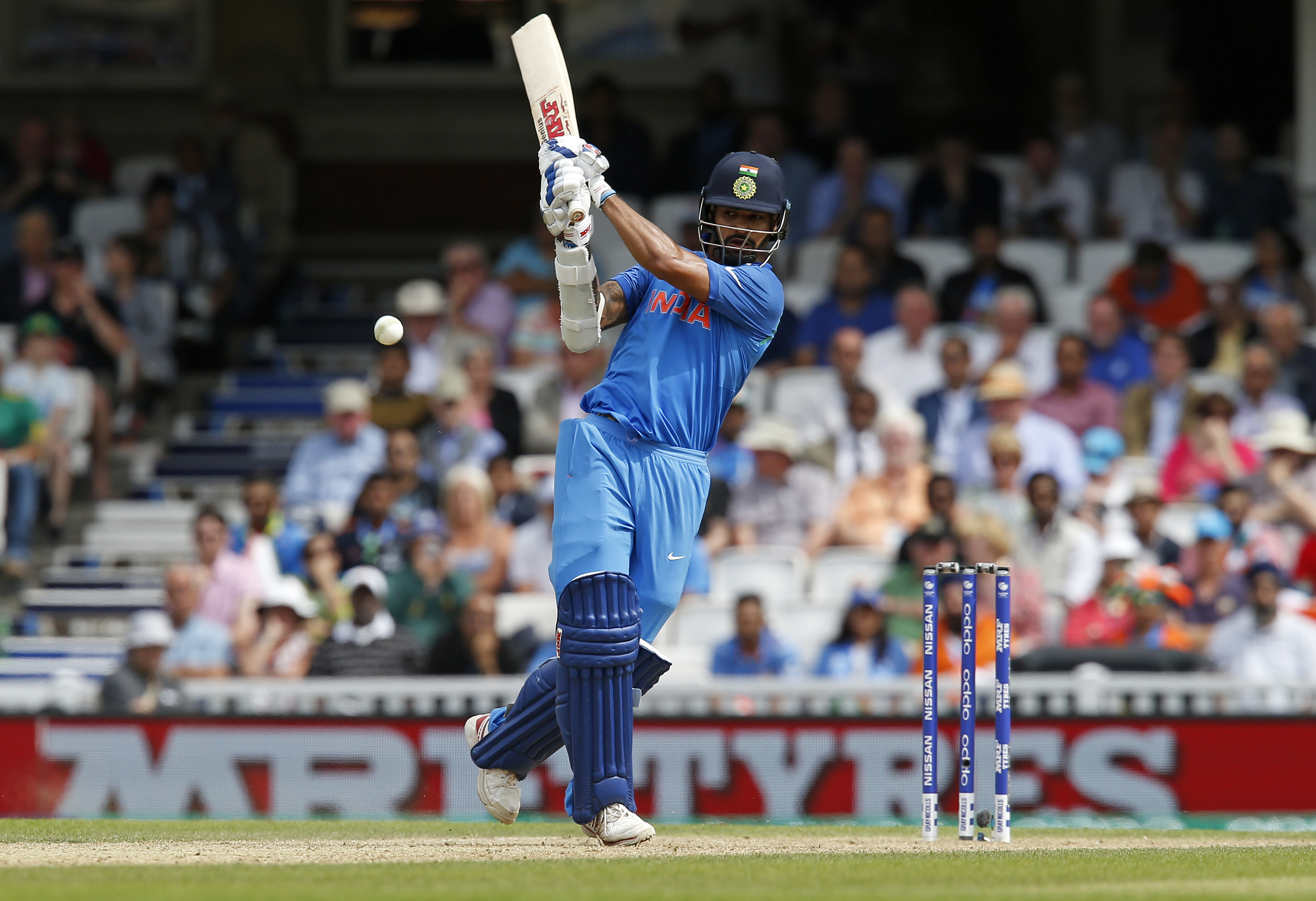 Shikhar Dhawan's rich vein of form continues. Photo: AFP