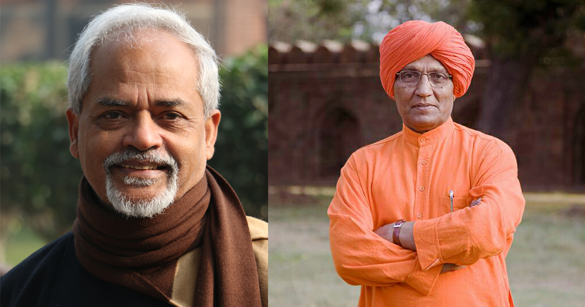 Valson Thampu (Left) and Swami Agnivesh.