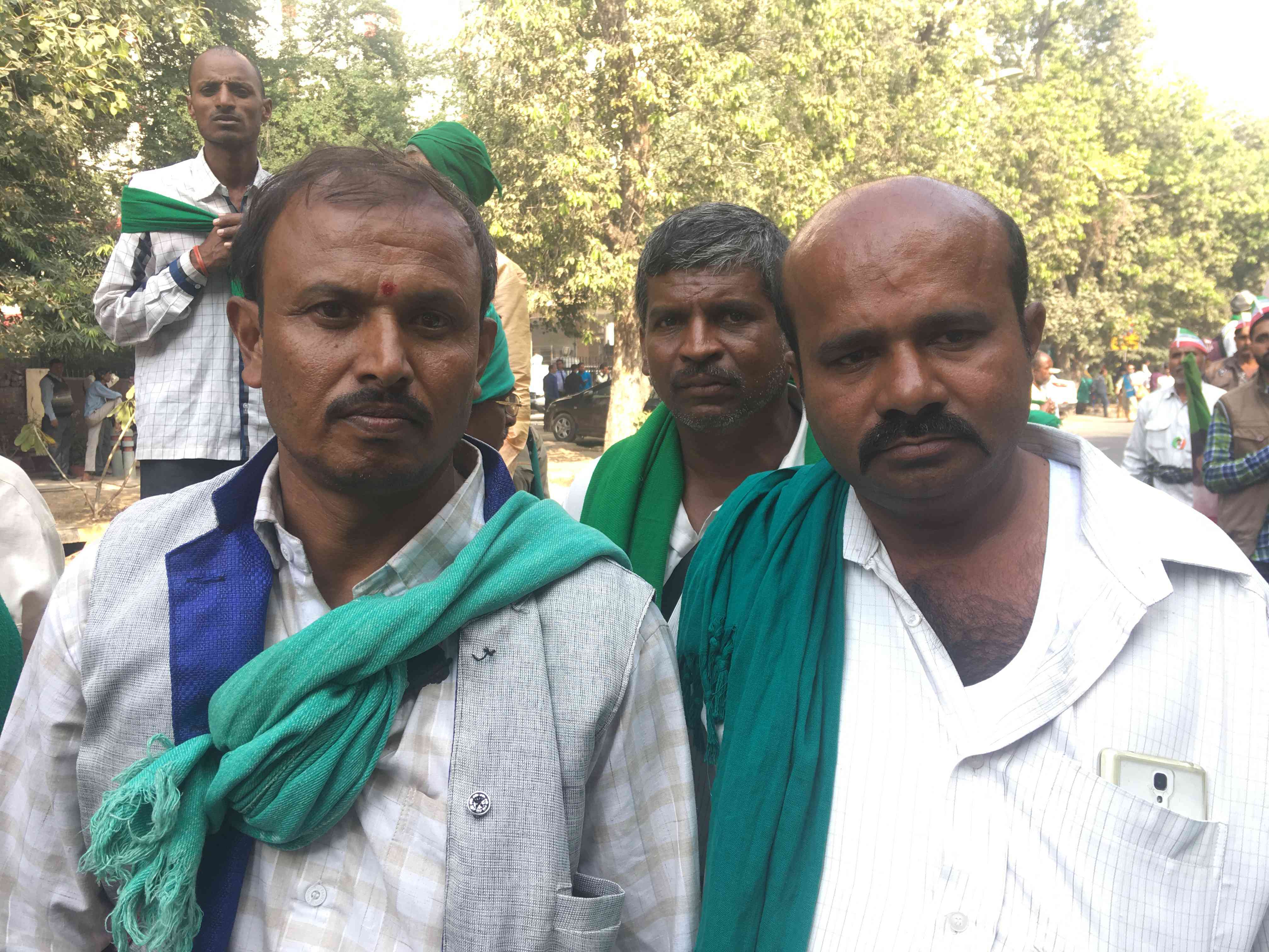 G Narasimha (left) and BN Ravish (right) from Karnataka said they would visit the Ram temple if it were built.