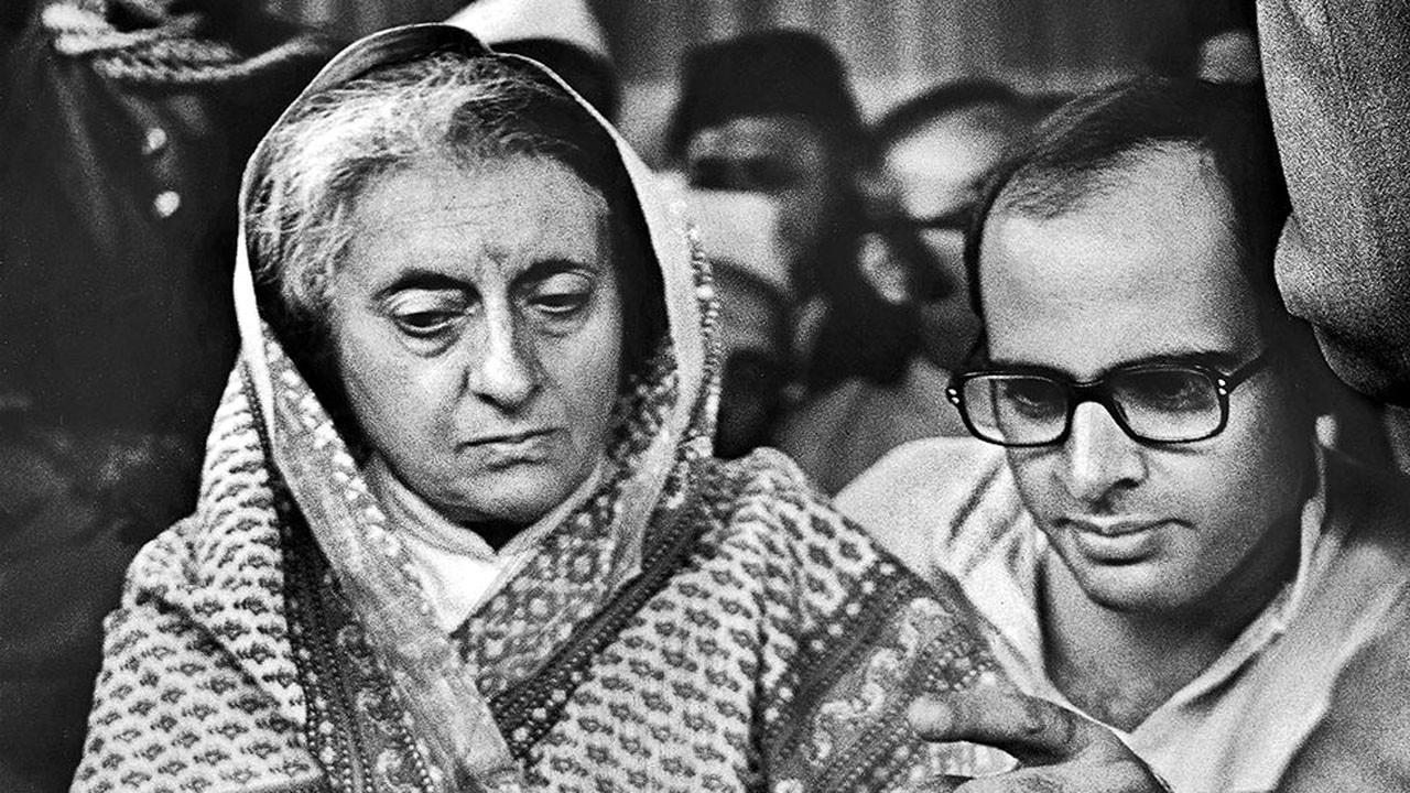 Indira Gandhi with Sanjay Gandhi. File Photo.