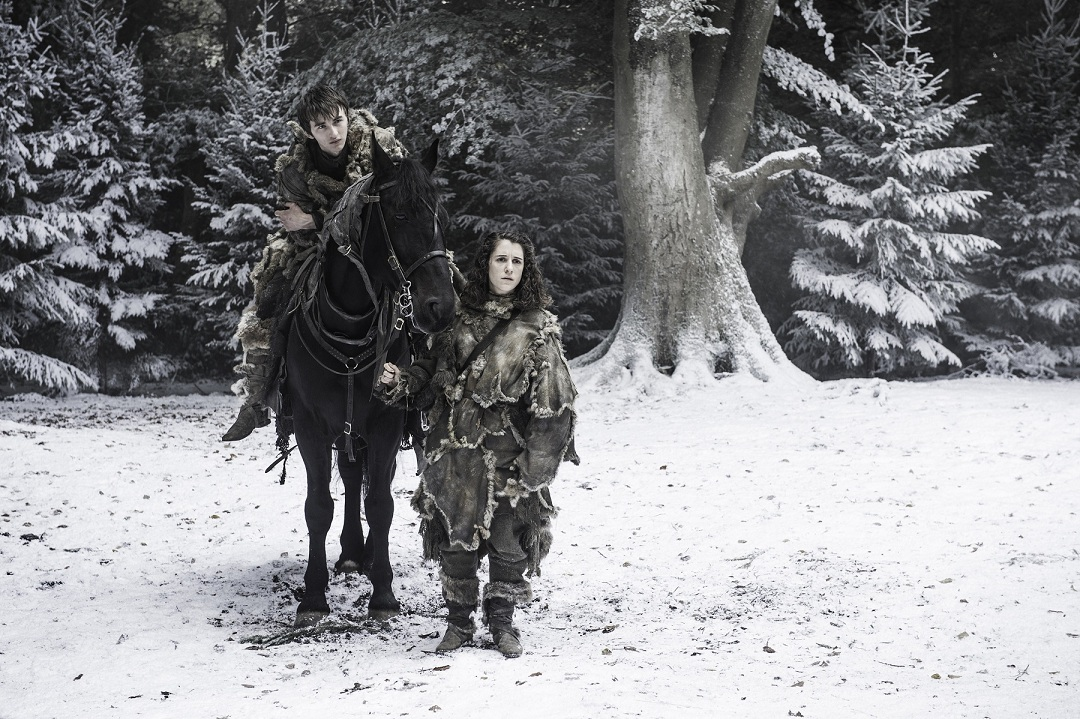 Bran Stark and Meera Reed in 'The Winds of Winter'.