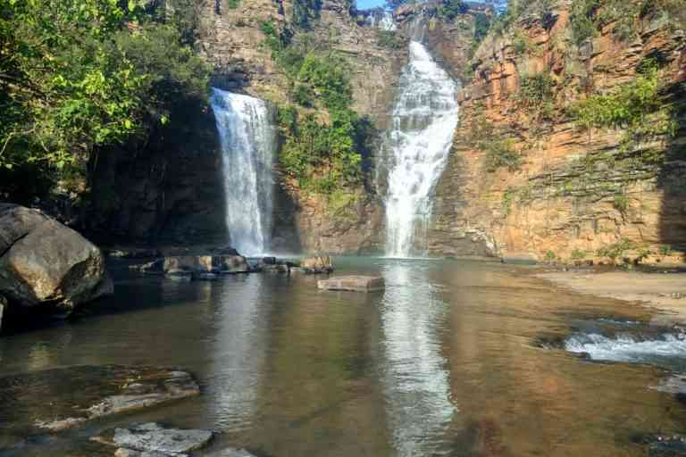 Tirathgarh waterfalls in the Bastar region. Photo Credit: Mayank Aggarwal/Mongabay-India
