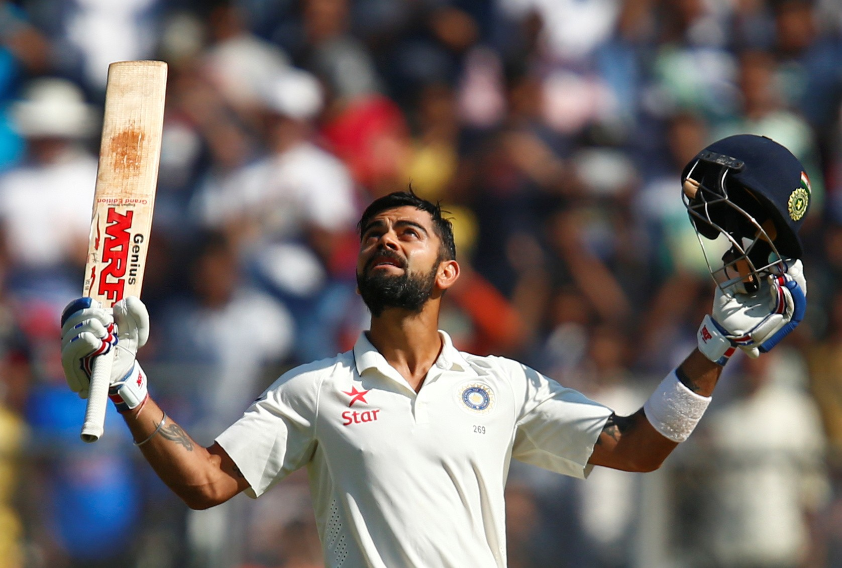 With three double hundreds and astute captaincy, Virat Kohli was India's biggest positive of 2016 (Image credit: AFP)