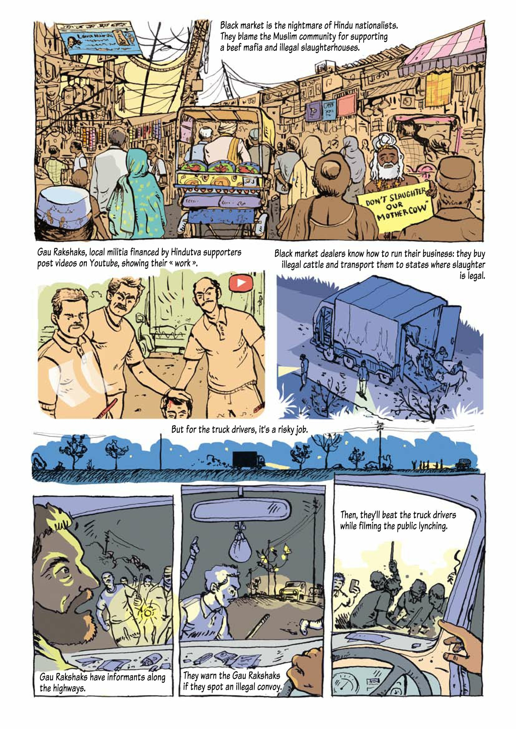 A French comic book illustrates Hindutva's war on beef and its
