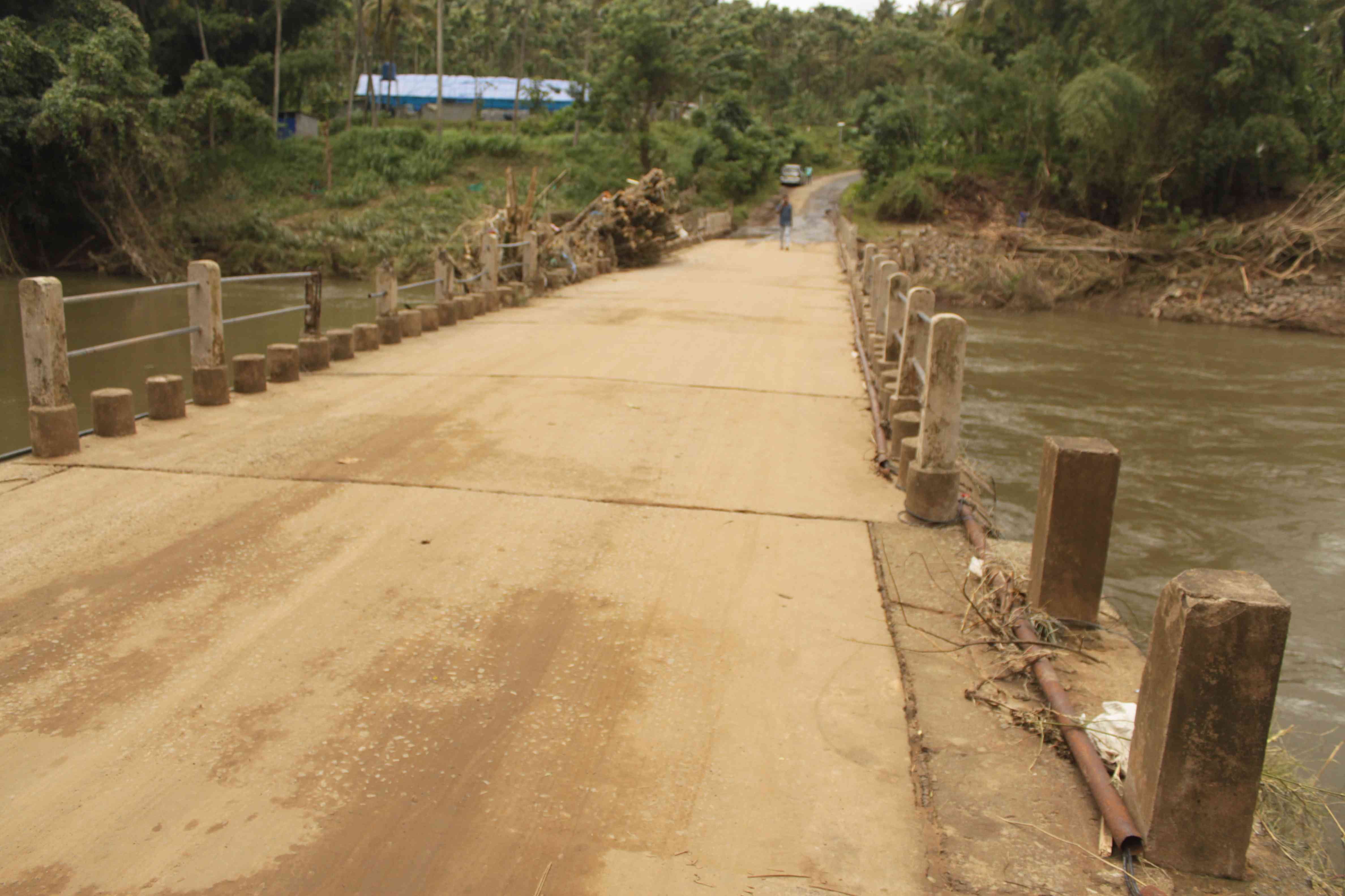 A damaged bridge on the way to Mukkali. Photo credit: S Senthalir
