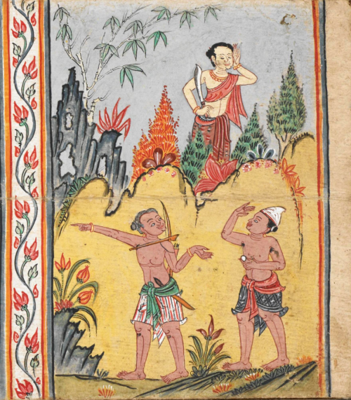 Thai manuscript of Mahabuddhaguna and other Buddhist texts, 18th century. British Library, Or 14068, f. 7