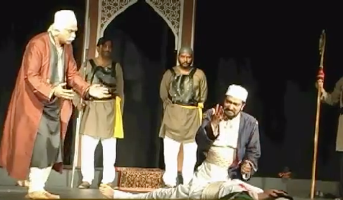A college performance of 'Tughlaq'.