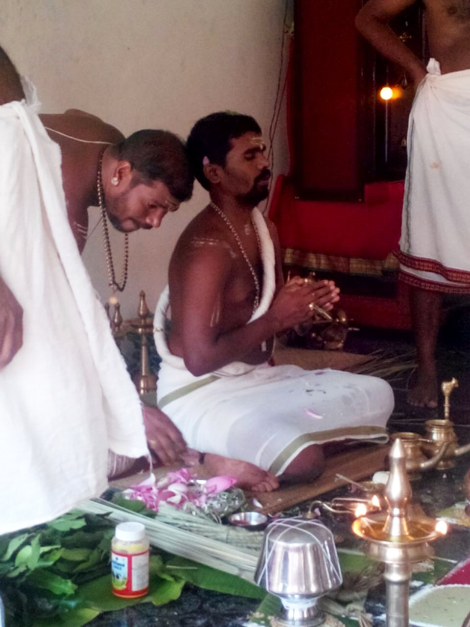 Vishnu Narayanan during a puja. (Photo credit: Special arrangement).