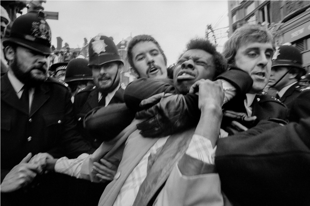 Race Riots in Lewisham 1977, from the Migration Museum's '100 Images of Migration' exhibition © by Peter Marlow.