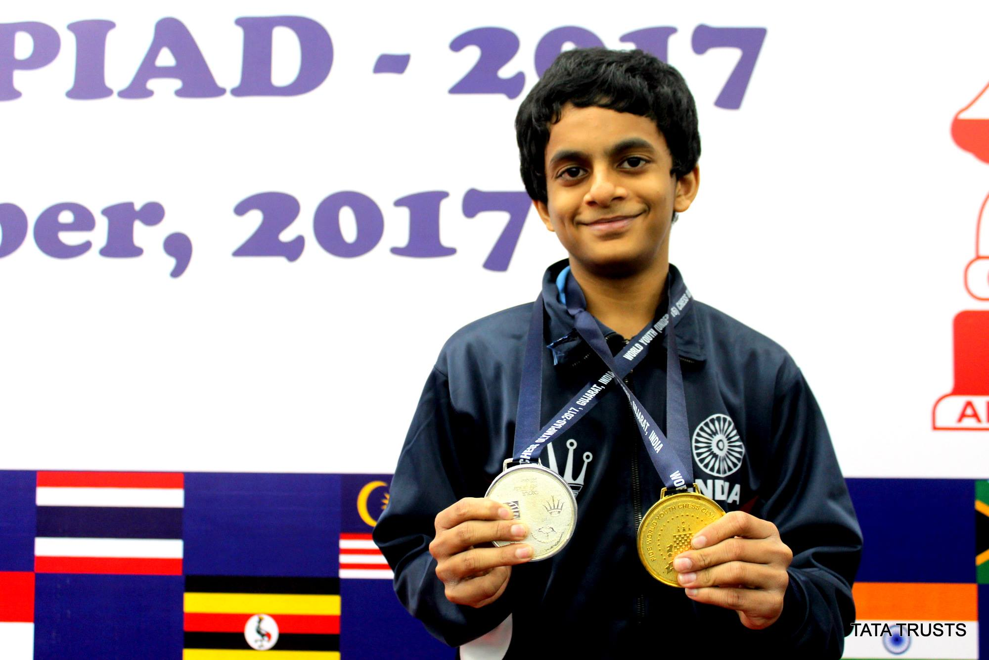 Nihal recently represented India at the youth Olympiad. Credit: Tata Trusts